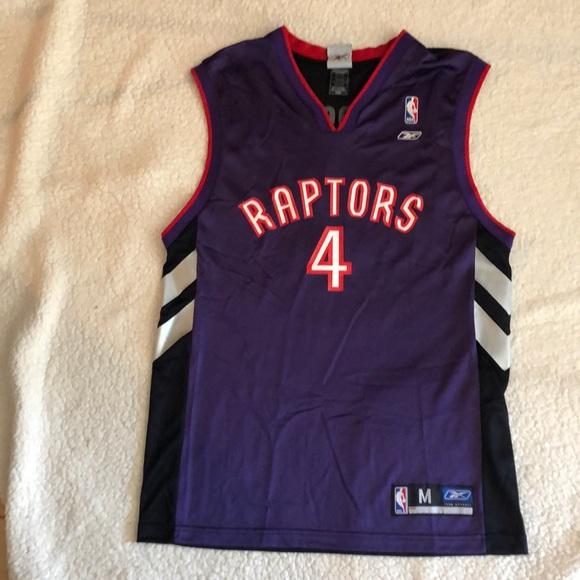 promo code ee97f 7dae1 Reebok NBA Bosh 4 Raptors Jersey Purple Size M